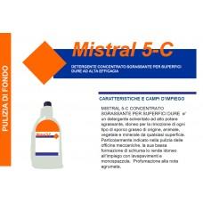 A - Detergente concentrato per superfici dure Mistral5C