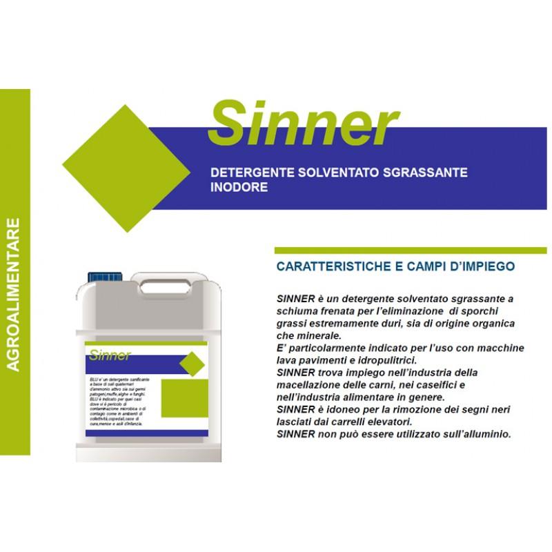 V - Detergente solventato Sinner